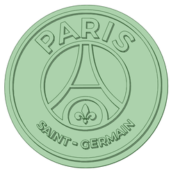 PSG_e.png Download STL file PSG Logo cookie cutter 88mm • 3D printable object, osval74