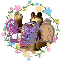 Grand Stantia.png Download STL file MASHA AND THE BEAR COOKIE CUTTER X3 • 3D printing template, KDASH