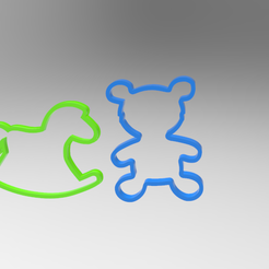 untitled.205.png Download STL file horse and bear cookie cutter • 3D print object, ibrahimmohamed