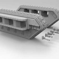 Chimera-Chassis.452.jpg Download STL file Interstellar Army All-Purpose Carrier Spotlight Sides • 3D printing template, Mkhand_Industries