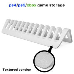 TexturedVersion.jpg Download STL file Ps5 Game cases storage • Template to 3D print, Shigeryu