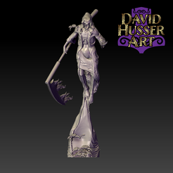 Space_Undead_Wraith_F.png Download STL file Space Undead Wraith • Object to 3D print, DavidHusserArt
