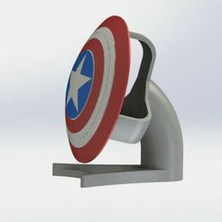 652562c2-3982-4bfa-b383-190aa9af6197.jpg Download STL file SUPPORT FOR ALEXA SHIELD CAPTAIN AMERICA • 3D printable object, N3RDS