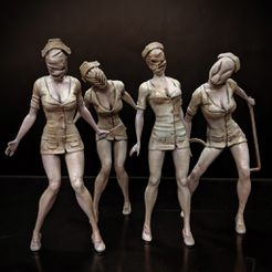 063f3b5231f30920768882085f964869_display_large.jpg Download free STL file Silent Hill - Nurse • 3D printing model, mag-net