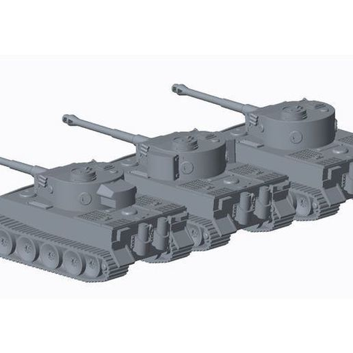 b1228638f6789d9808b390ed9aeffeb7_preview_featured.JPG Download free file Tiger Tank Pack • Object to 3D print, TigerAce1945