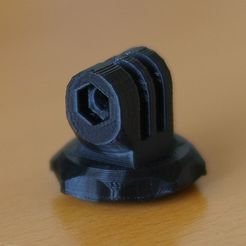 """DSC00496_display_large.jpg Download free STL file Gopro mount for 1/4""""-20 nut and no support • 3D printer design, Rowynolon"""