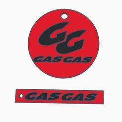 gasgas.JPG Download free STL file MX Gas Gas Keychain • Object to 3D print, dakarlcts