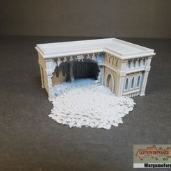 IMG_2586.jpg Download STL file Ruined Gothic Epic Building 17 • Object to 3D print, WargameForge