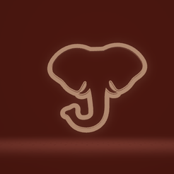c1.png Download STL file cookie cutter elephant head • 3D printing template, nina_hynes