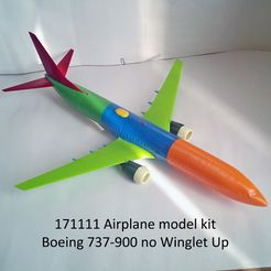 171111 Model kit Boeing 737-900 no Winglet Up Photo 01m.jpg Download STL file 171111 Boeing 737-900 no Winglet Up • 3D printable model, sandman_d