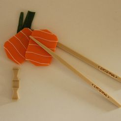 IMG_3748.JPG Download STL file Chopsticks Sushi • 3D printing design, Eff3DWeb