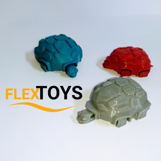 Tortuga-1.png Download free STL file Cute Flexi Turtle • 3D printing object, FlexToys