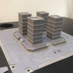 IMG_0448.JPG Download free STL file Titanstructure Dark future 8mm scale city tile for epic titanicus • 3D printer template, Kal_Foxx