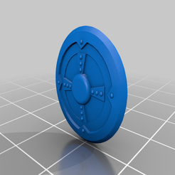 Blank_Shield.png Download free STL file Round Shield and Wolf Shield • 3D printable template, Xion16