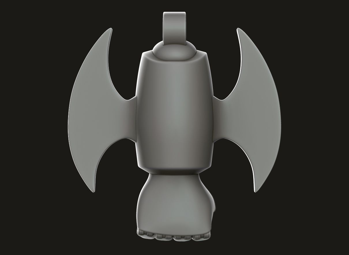 A.jpg Download free STL file ▷ Mazinger Z Rocket Punch with Cutter 【 KEYCHAIN 】 • 3D printable model, gersith
