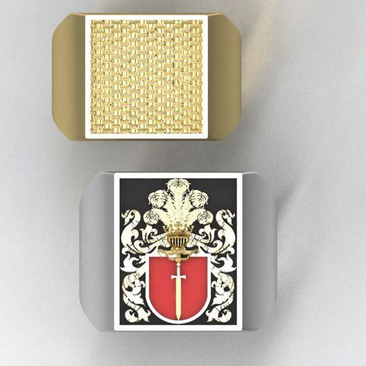 2.jpg Download 3DS file signet ring with heraldic • 3D print template, sergotall1977
