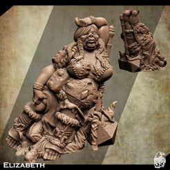 3d-printable-female-ogre-miniature-2.jpg Download STL file Support Free Female Ogre Miniature Elizabeth • 3D printer object, Nello