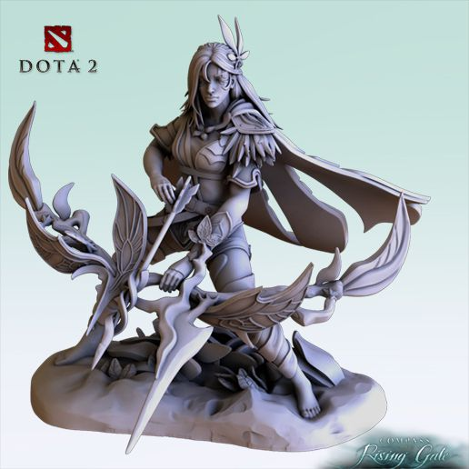 7.jpg Download free STL file Dota 2 Windranger Arcana Bow and Arrow • 3D printer template, OXO3D