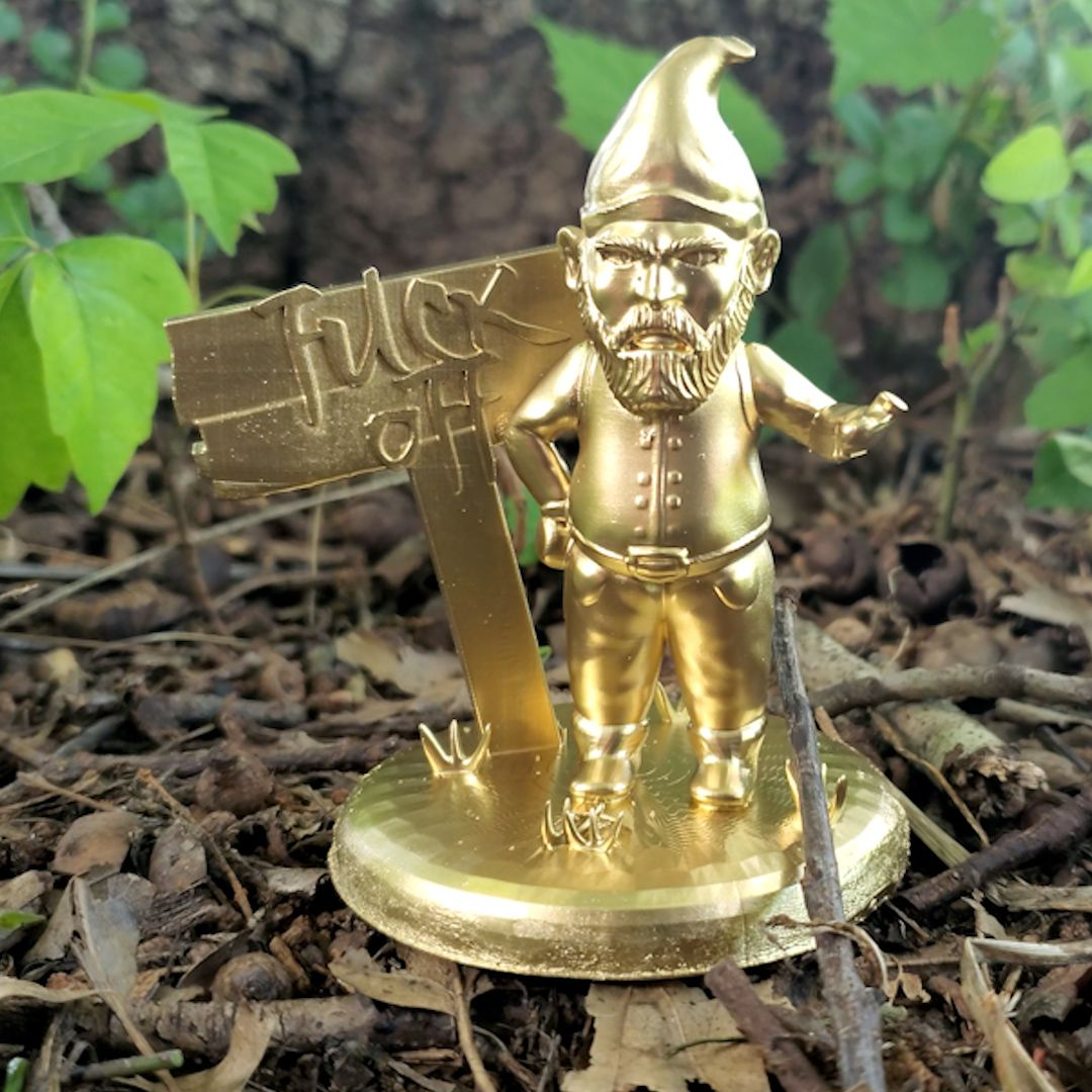 Knome_1.jpg Download STL file Stylus Gnome Holder • Object to 3D print, PrintThatThing