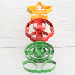 cortantes mario 8.png Download STL file Set x3 Mario Bros. cutters • 3D printable template, 3dokinfo