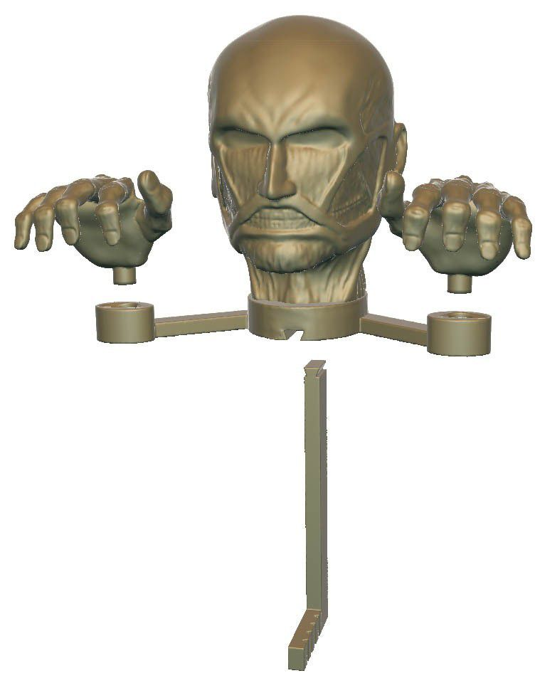 assembly layout.jpg Download free STL file Attack on Titan - Colossus Titan • 3D printing object, mag-net