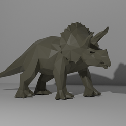 Triceratops1.png Download OBJ file Triceratops Low Poly • 3D printable object, WorldOfPoligons