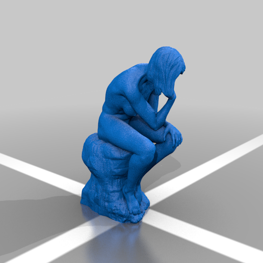 FemaleTheThnker2.png Download free STL file Female The Thinker • Model to 3D print, nahojjjen