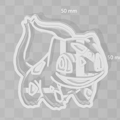 bulbasaur.JPG Download STL file bulbasaur pokemon cookie cutter • 3D print object, PrintCraft