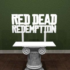 RDR-logo.jpg Download free STL file Red Dead Redemption Logo • 3D printable template, AwesomeA