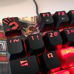 IMG_20200420_134543.jpg Download free STL file Bloody keycap • Template to 3D print, armania3d