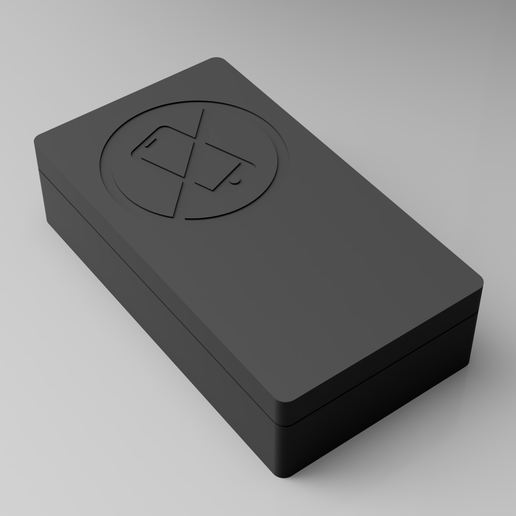 """faraday_box_2019-Mar-05_04-53-37PM-000_CustomizedView26052340311_png.png Download free STL file """"NO DISTRACTIONS!"""" This box will save your marriage! Dual Cell Phone Faraday Cage Box • 3D printable object, ThatJoshGuy"""