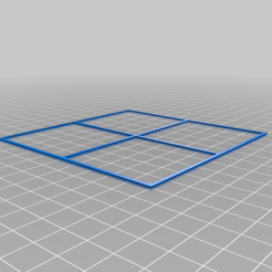 100x100.png Download free STL file Calibration / Levelling Square / 100mm • 3D print model, peaberry