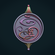 AbsPnd-11.png Download STL file Abstract Magic Pendant • Object to 3D print, Skazok