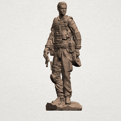 American Soldier A01.png Download free STL file American Soldier • Template to 3D print, GeorgesNikkei