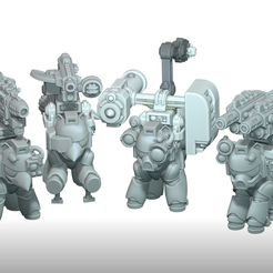 Heavy_Weapony_Group.jpg Download STL file My Little Marine Heavy Weaponies • 3D print model, HappyDuck3D