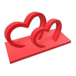 Hearts_Cake_Topper-(1).jpg Download free STL file Hearts Cake Topper (1) • 3D printing design, 3Dgardo