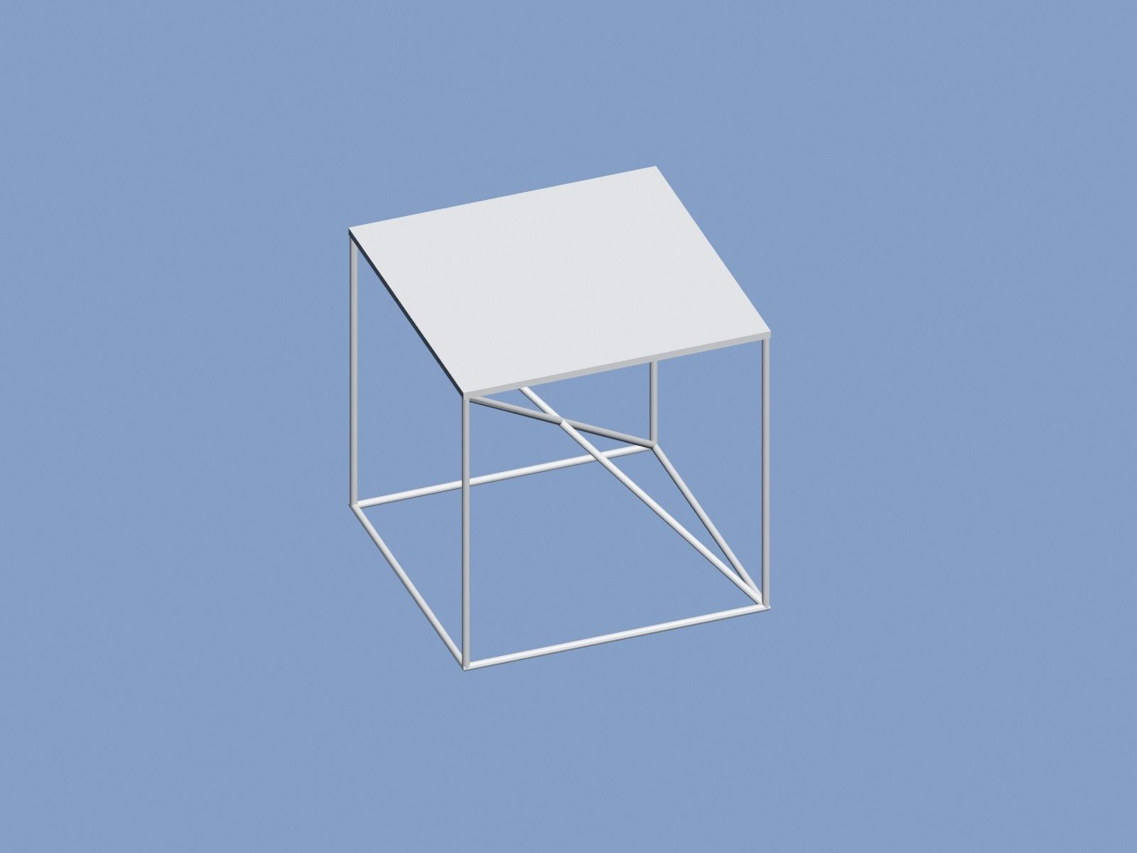 2.jpg Download free OBJ file Table with diagonals • 3D print template, Zorana