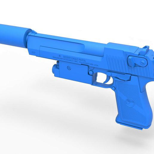 58.jpg Download STL file Desert Eagle pistol from the movie Universal Soldier 1992 • 3D printable template, CosplayItemsRock