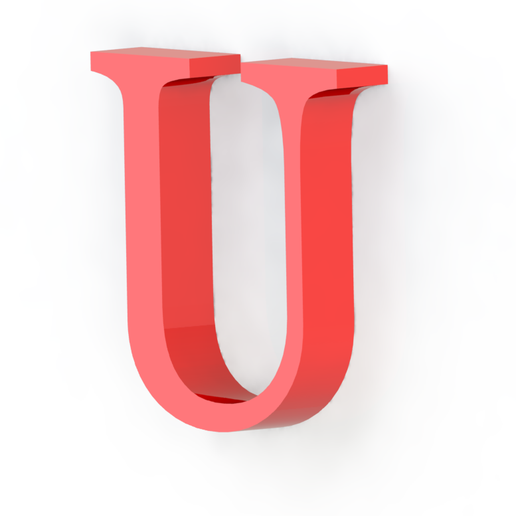 U2.png Download free STL file Letras / abecedario completo • Object to 3D print, Lubal