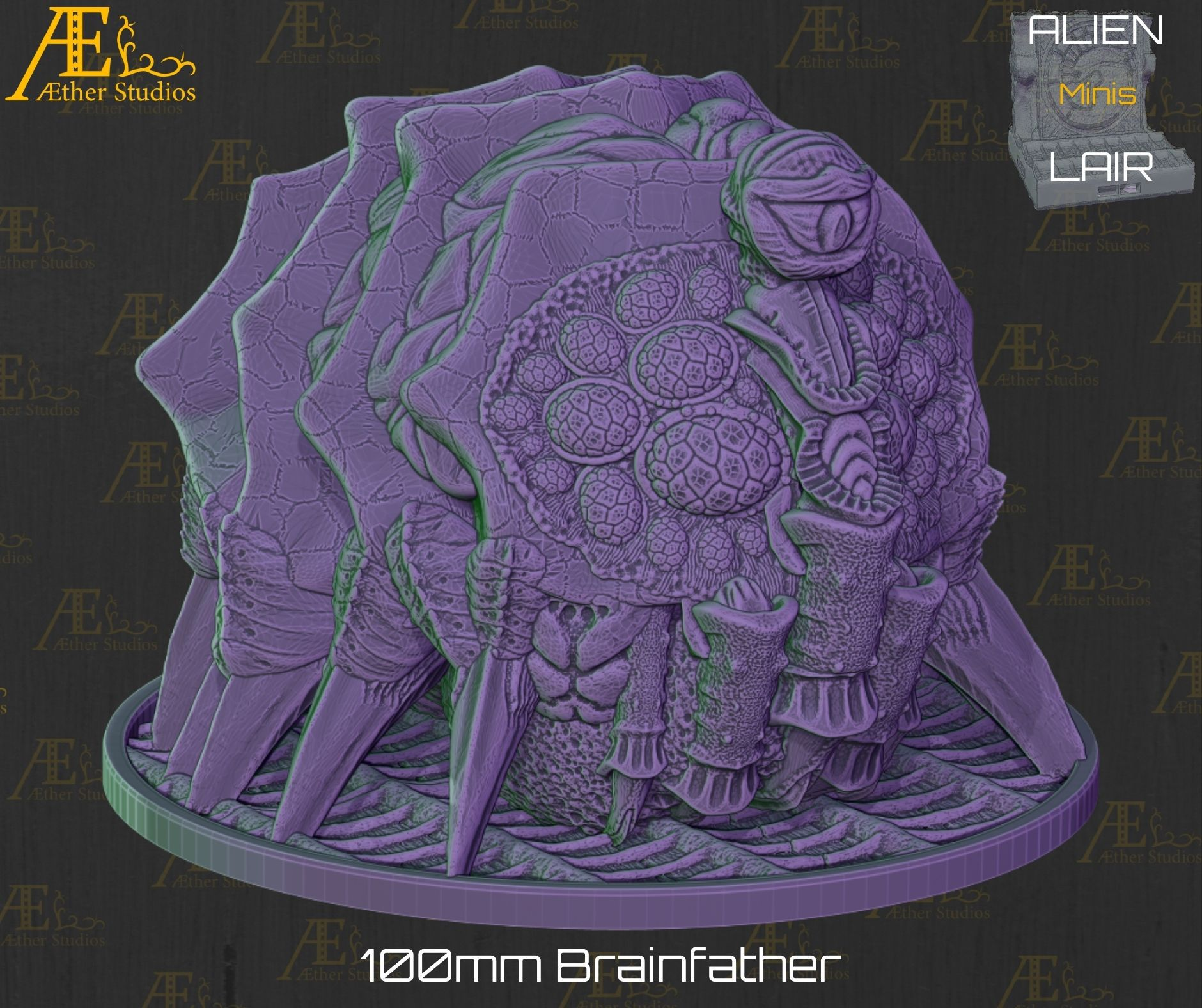 resize-3.jpg Download file Alien Lair: Brainfather • 3D printing object, AetherStudios
