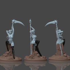 untitled.33.jpg Download STL file Lady Death  • Model to 3D print, jexes20092