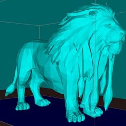 976f58456d1458badc3d8be026df71af_display_large.jpg Download free STL file Lion, king of the animals • Template to 3D print, Boris3dStudio