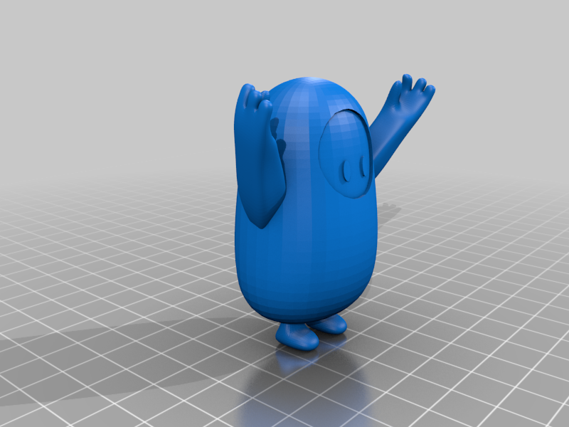 fall_guy_excited.png Download free STL file Fall Guys - Different Poses! • 3D printable model, danielrobert