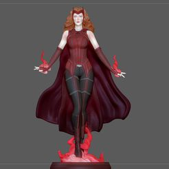 0.jpg Download STL file SCARLET WITCH FROM MARVEL MCU DRAMA WANDA VISION CHARACTER • 3D print template, figuremasteracademy