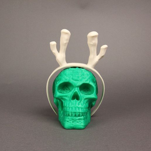 Antler_Headband02_display_large.jpg Download free STL file Reindeer Headgear • 3D printer template, Nairobiguy3D