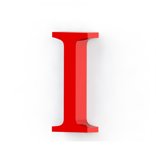 I2.png Download free STL file Letras / abecedario completo • Object to 3D print, Lubal
