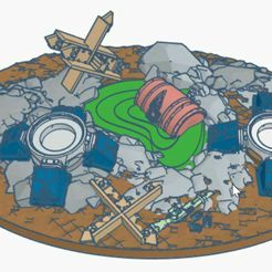 base_badlands.jpg Download free STL file Dominion Crusader 170mm oval base • 3D printing object, theavatar111