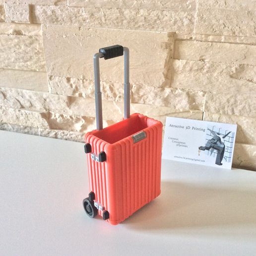 IMG_9654.jpg Download STL file BUSINESS CARD HOLDER LUGGAGE • Object to 3D print, PLP
