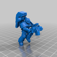 3_HeavyMG.png Download free STL file Angelic Space Soldiers with Heavy Weapons • Template to 3D print, PhysUdo