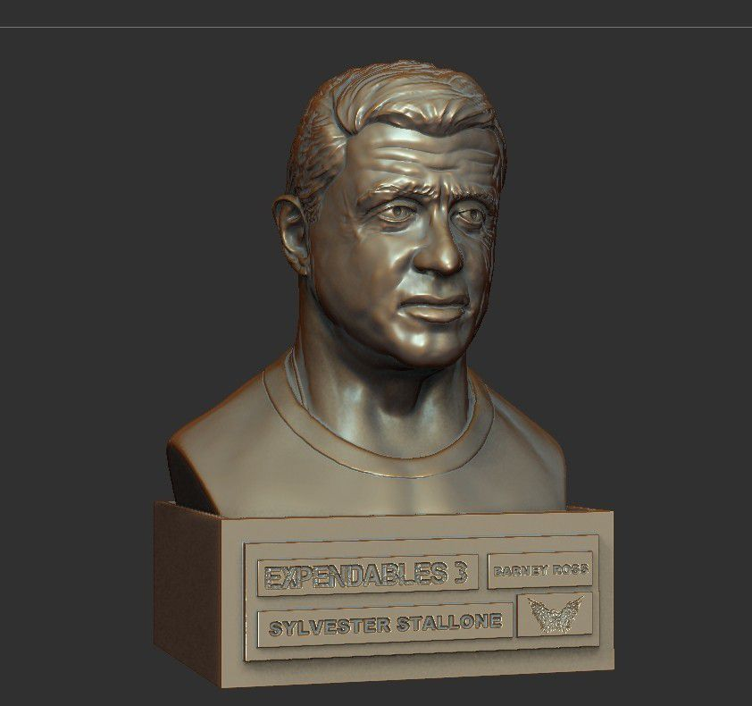 03.jpg Download STL file SYLVESTER STALLONE • 3D printer template, thierry3D